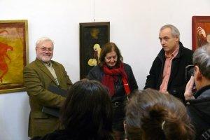 Sugár János megnyitja Gerlóczy Sári kiállítását a Galéria IX-ben