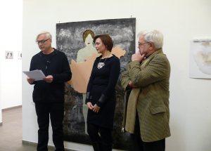 Szombathy Bálint megnyitja Herbert  Anikó kiállítását a Galéria IX-benn
